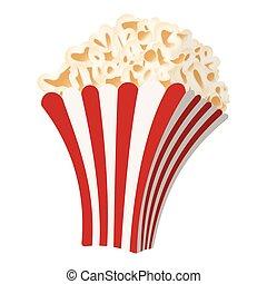 popcorn, karikatur, ikone