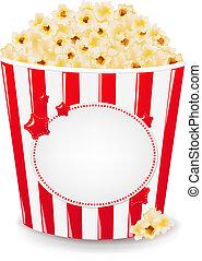 popcorn, kartong kasse