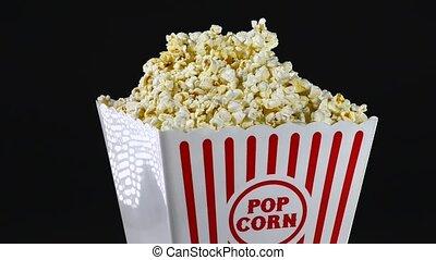 Popcorn. - Large box of popcorn.