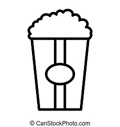 Popcorn line icon. Vector illustration