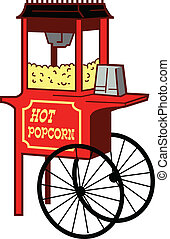Popcorn Machine - Cartoon Illustration of a Popcorn Machine