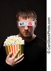 popcorn, mann