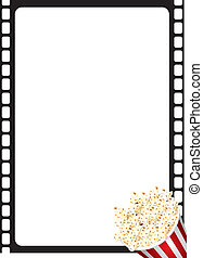 Popcorn Movie Frame - Portrait film strip border with...