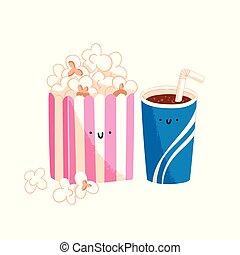 popcorn, och, soda