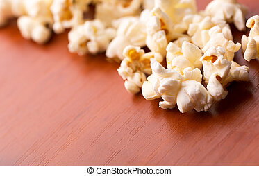 Popcorn on the table