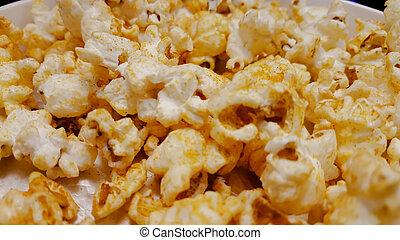 popcorn, op, een, witte achtergrond