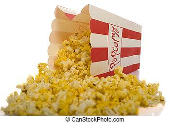 popcorn, op wit