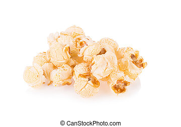 Popcorn pile isolated on white
