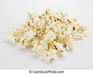 Popcorn Pile on White