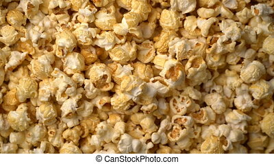 popcorn rotate motion background. 4k footage video