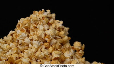 popcorn rotate motion background. seamless loop 4k video