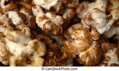 popcorn rotate motion background. Slow motion video