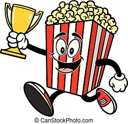 Popcorn Running with a Trophy