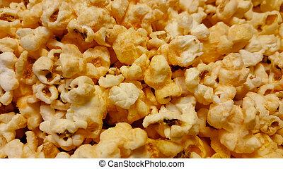 popcorn, sfondo bianco