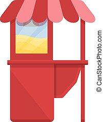 Popcorn shop icon, cartoon style