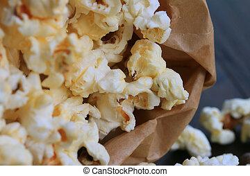 popcorn, smakowity