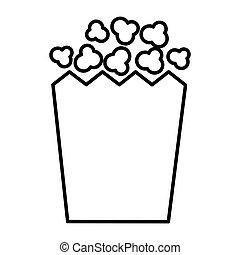 popcorn snack in box
