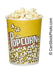 Popcorn - Photo of a Popcorm Bucket with Popcorn - Snack
