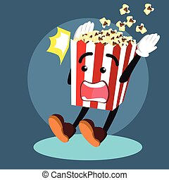 popcorn surprised illustration