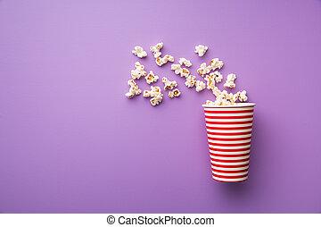 popcorn, tazza carta