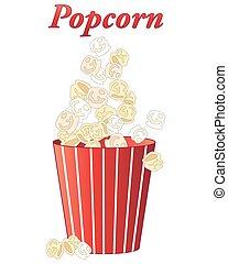 popcorn treat - an illustration of delicious fresh popcorn...
