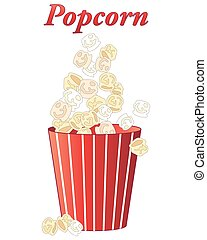 popcorn treat - an illustration of delicious fresh popcorn...