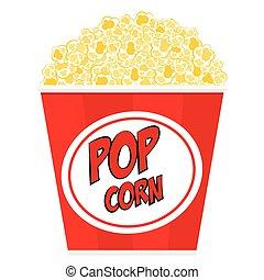 popcorn, tub., strisce