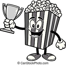 Popcorn with a Trophy Illustration
