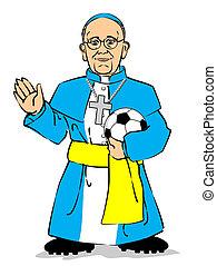 Pope Francis I - Cardinal Jorge Mario Bergoglio of Argentina...