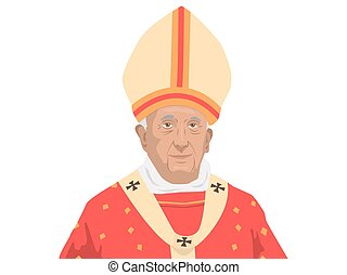 Pope Francis illustration
