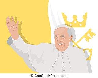 Pope Francis illustration