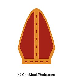 Pope hat icon - Isolated pope hat icon. Catholic object....