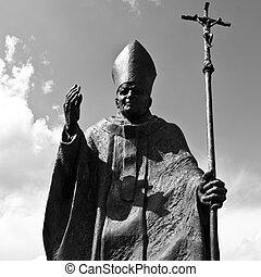 Pope John Paul II Statue in Suwalki - Poland