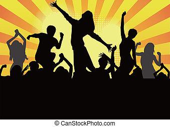 popolare, ballo, modello, o, idolo