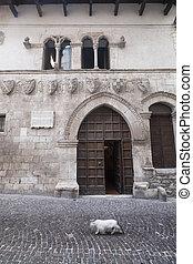 Popoli (L'Aquila, Abruzzi, Italy): historic palace in Piazza della Liberta, the main square of the city, known as Taverna Ducale