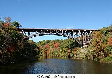 Popolopen Bridge between Fort Montgomery & Bear Mountain,...