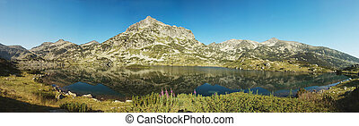 Popovo Lake and Jangal mountain in Pirin National Park,Bulgaria