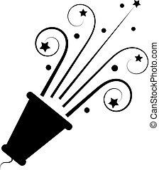 poppers, illustration., isolé, arrière-plan., vecteur, blanc