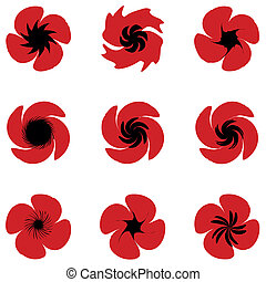 Poppies set