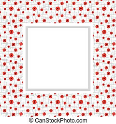 Poppies Vector Frame - Vector frame with red poppies on...