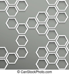 poppig, geometrisch, 3d, hintergrund, sechsecke