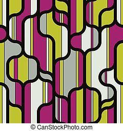 poppig, linien, formen, und, farben, seamless, pattern.