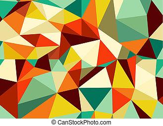 poppig, weinlese, geometrisch, seamless, muster