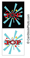 popping art - explosive pop text in comic book style