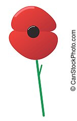 Poppy - A poppy design isolated on a white background