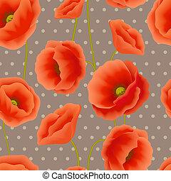 Poppy seamless wallpaper
