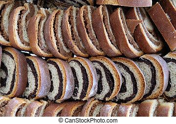 Poppy seed and walnut rolls