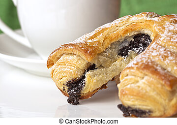 Poppy Seed Pastry and Coffee