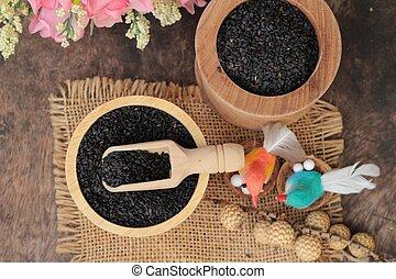 Poppy seeds of organic