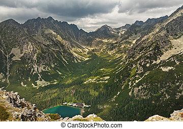 Popradske pleso lake valley in High Tatra Mountains, Slovakia, Europe